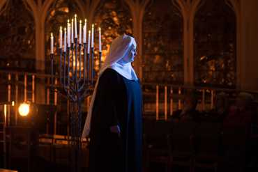 A scene from a performance of Alaina's production of Suor Angelica.